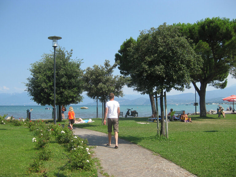 ligplek bij eurocamping Pacengo aan het Gardameer