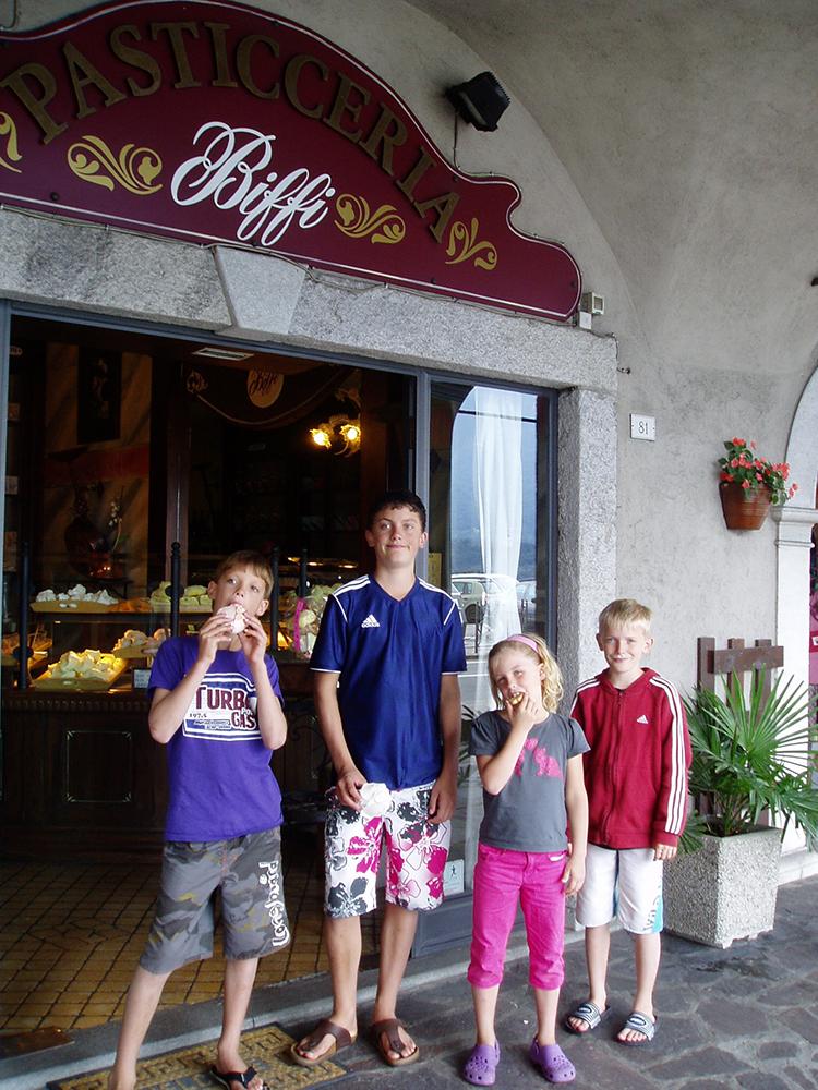 Bakkerij Biffi in Domaso Italië