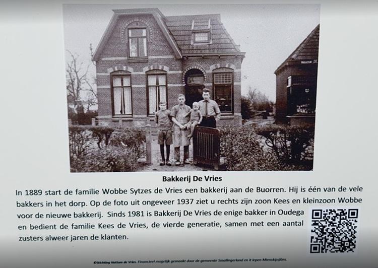 informatie over vroeger over bakkerij de vries in oudega
