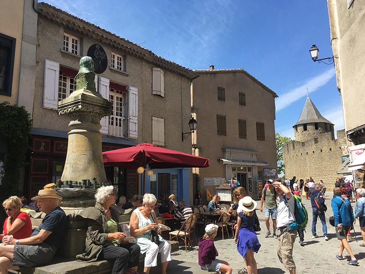 binnen het kasteel Carcassonne