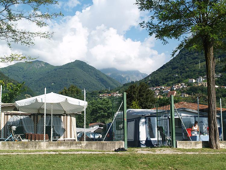 camping North Wind in Domaso Italië aan het Comomeer