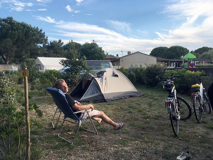 campingplekje op camping in Carcassonne