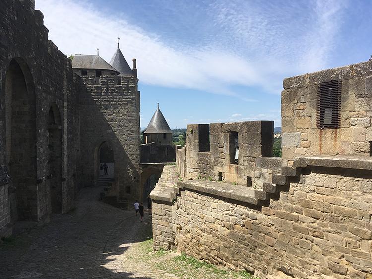 op het kasteel Carcassonne