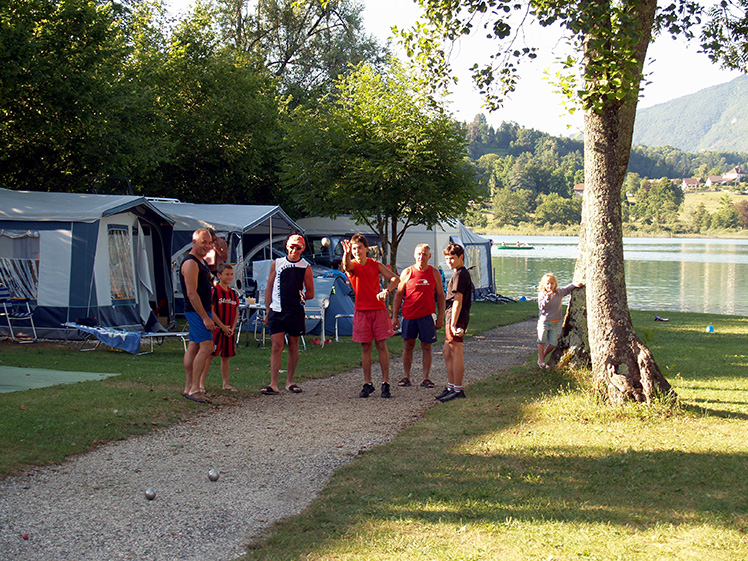 potje petanque op camping le curtelet