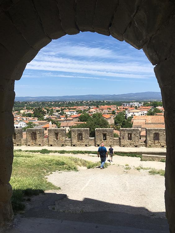 uitzicht op Carcassonne