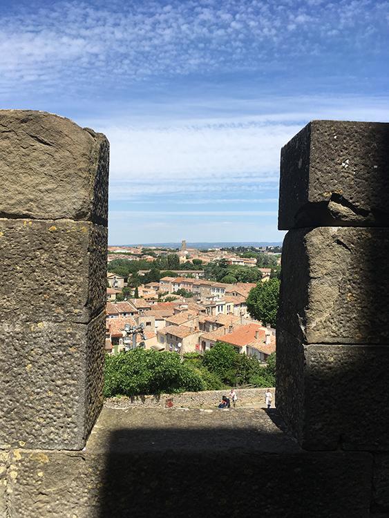 uitzicht vanaf kasteel Carcassonne