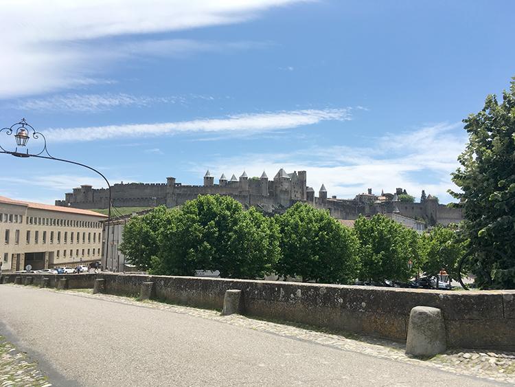 zicht op kasteel Carcassonne