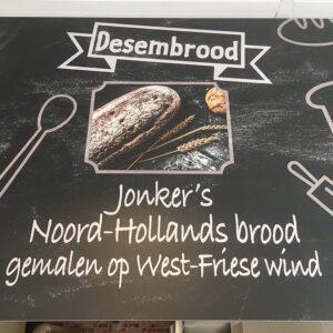 bord Desembrood Jonker's Noord-Hollands brood gemalen op West-Friese wind