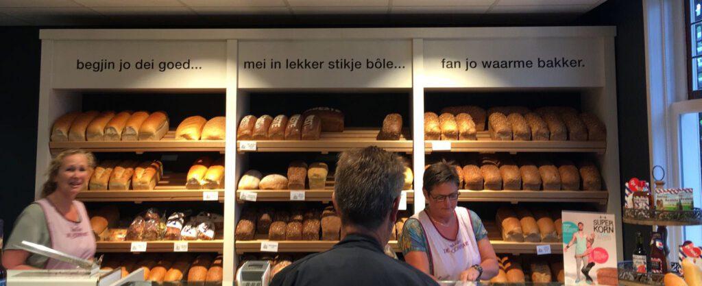 mooie spreuk in de bakkerij in Witmarsum