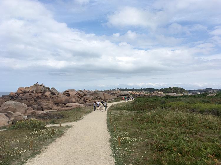 wandelen bij Côte de granit rose