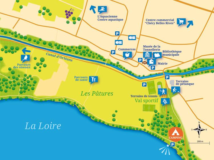 Camping Municipal Patures plattegrond