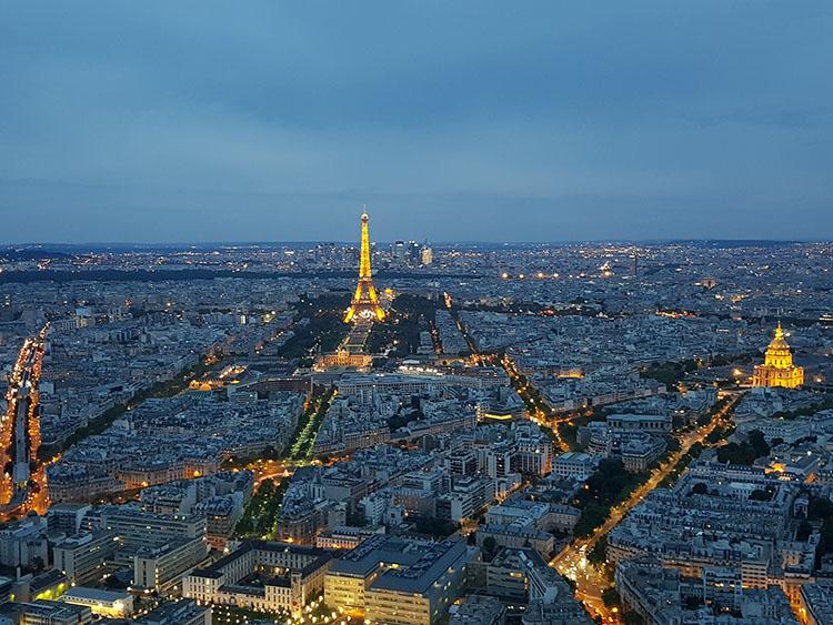 parijs vanaf la tour monparnasse