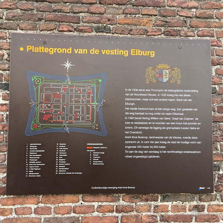 plattegrond van de vesting elburg